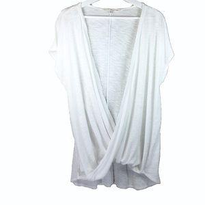 Rachel -Rachael Roy faux wrap sleeveless top